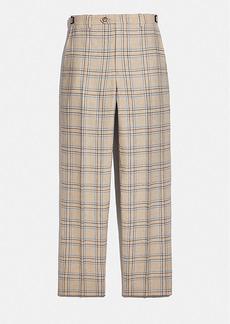 Coach flat front pants