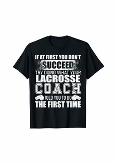 Funny Lacrosse Coach Tshirt Thank You Gift for Coaches