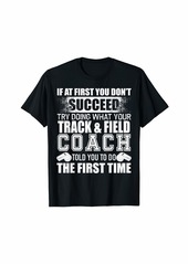 Funny Track & Field Coach Tshirt Thank You Gift for Coaches