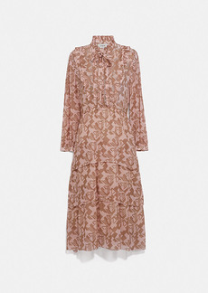 Coach georgette ruffle dress