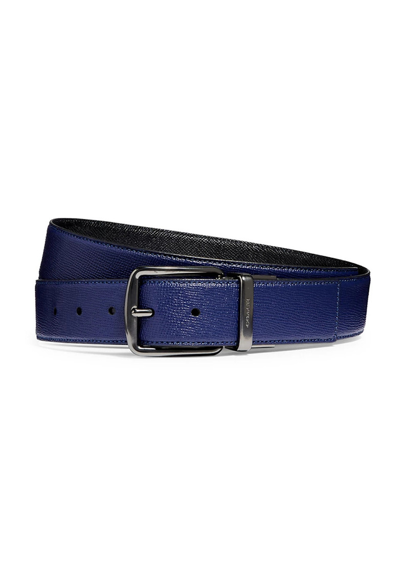 Coach Harness Crossgrain Leather Belt