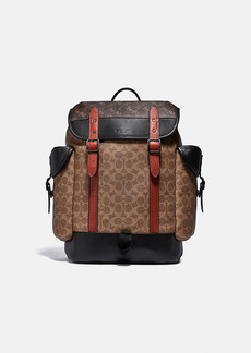 Coach hitch backpack in signature canvas with horse...