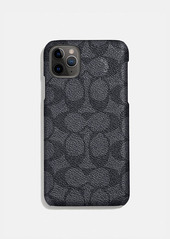 Coach iphone 11 pro case in signature canvas