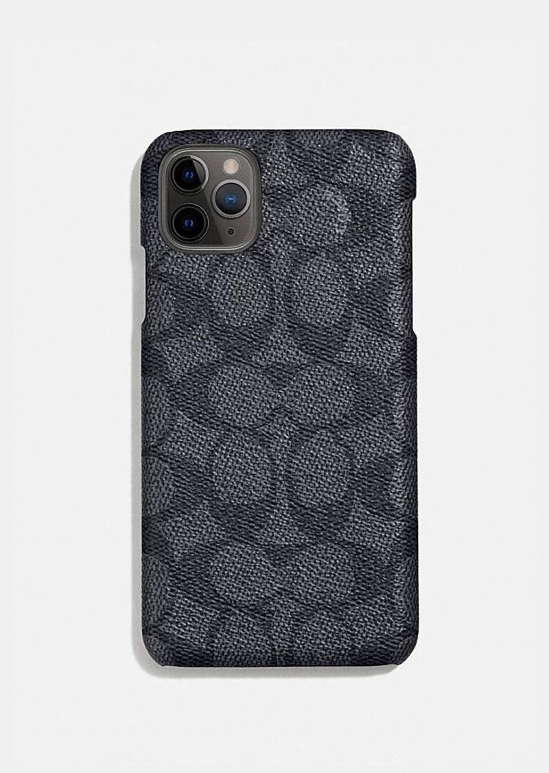 Coach iphone 11 pro case in signature canvas