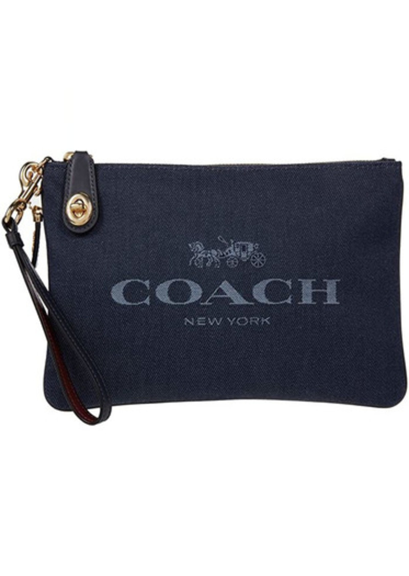 Coach Jacquard Turnlock Pouch 26