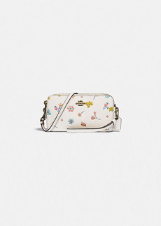 Coach kira crossbody with watercolor floral print