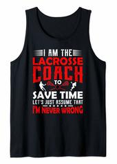 Lacrosse Coach Gifts Men Women Coaching Motivation Teacher Tank Top