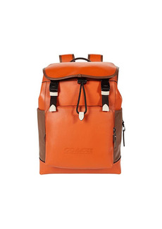 Coach League Flap Backpack in Color-Block