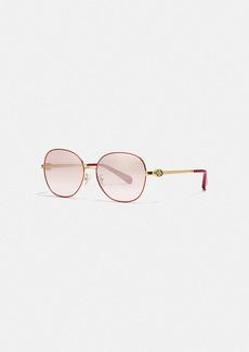 Coach lunar new year wire frame round sunglasses