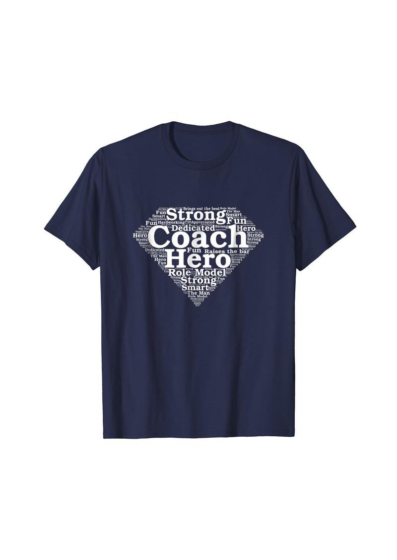 Mens Coach Appreciation Superhero T Shirt