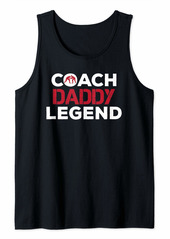 Mens Father Gifts From Daughter Son Coach Daddy Legend Wrestling Tank Top
