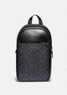 Coach metropolitan soft pack in signature canvas