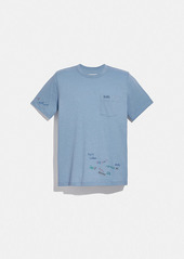 Coach oversized pocket t-shirt with embroidery