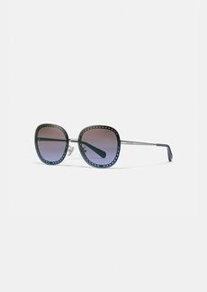 Coach oversized signature chain square sunglasses