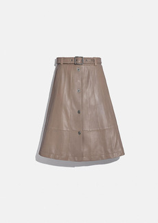 Coach paneled trench skirt