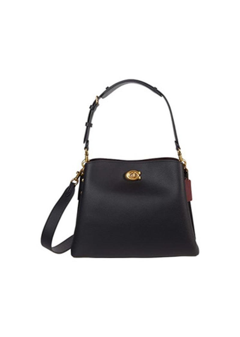 Coach Polished Pebble Leather Willow Shoulder Bag