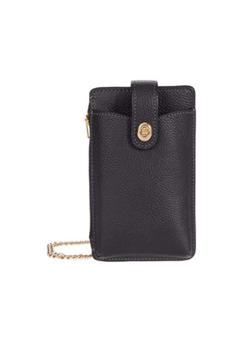 Coach Polished Pebble Turnlock Chain Phone Crossbody