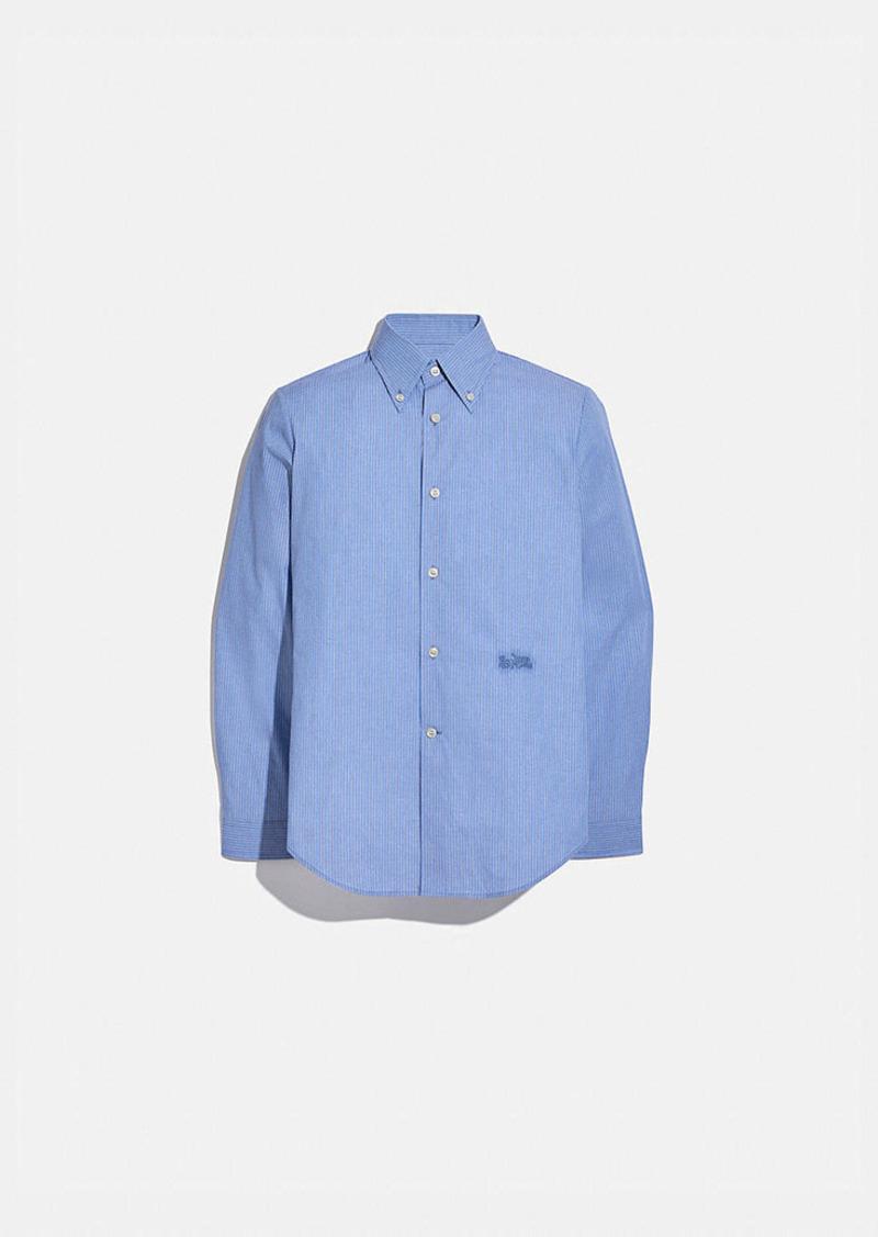 Coach retro collar long sleeve shirt