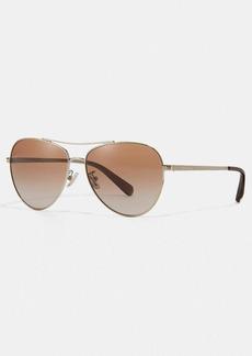 Coach ryan jeweled pilot sunglasses