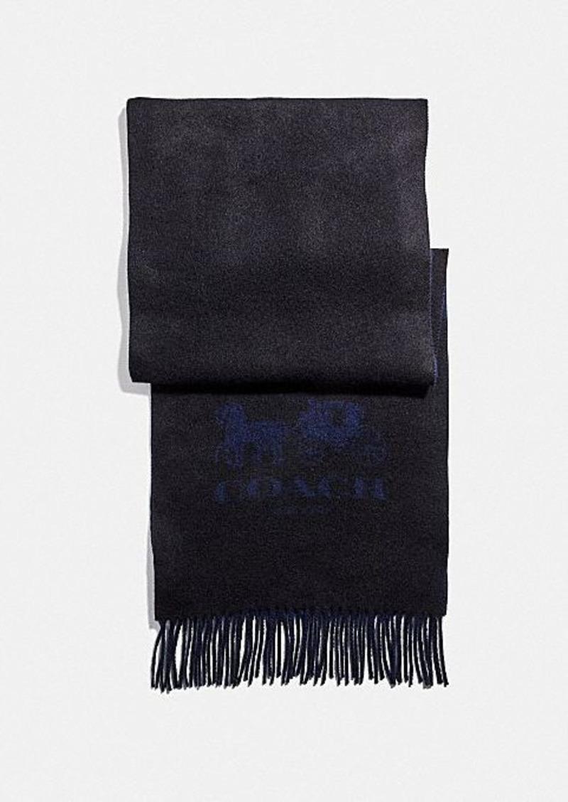 Coach signature cashmere scarf
