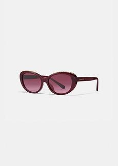 Coach signature chain cat eye sunglasses