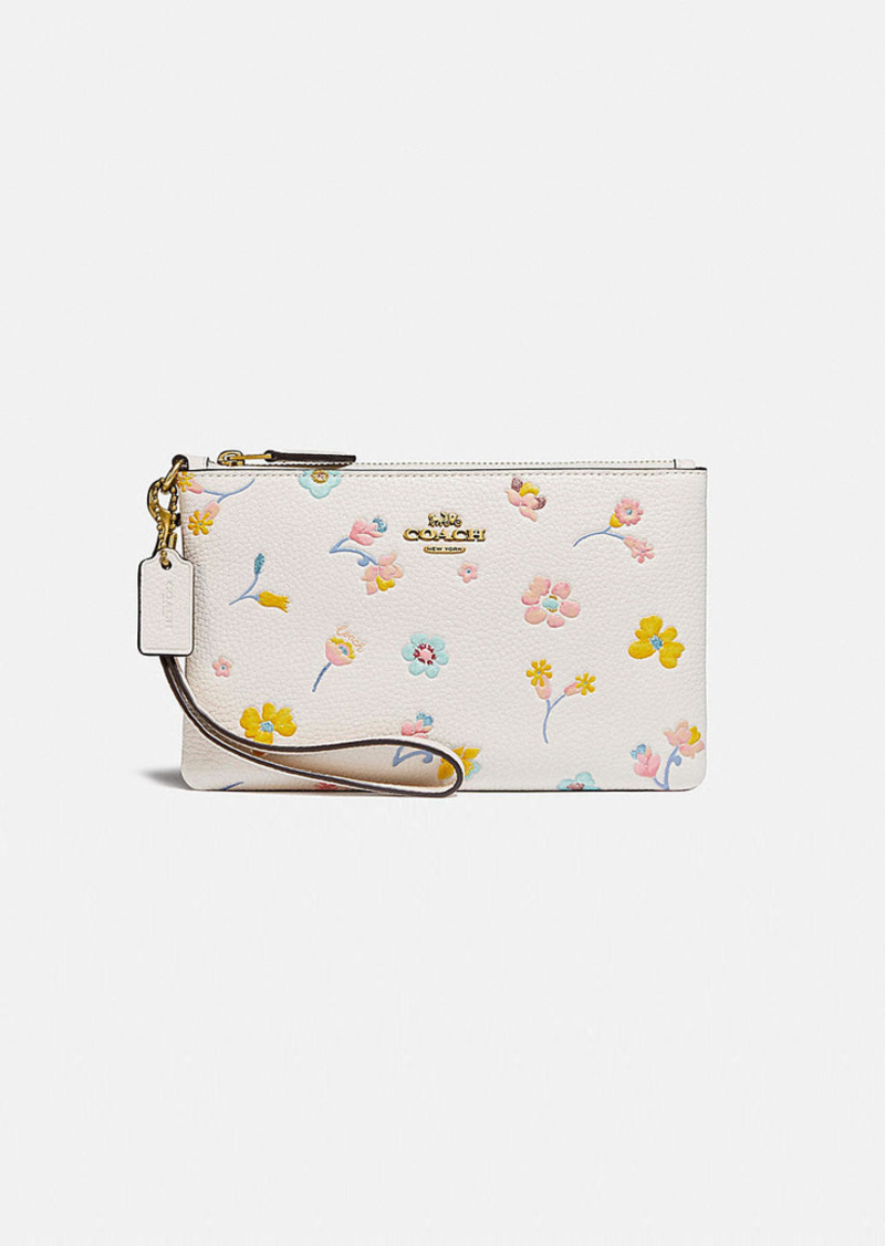 Coach small wristlet with watercolor floral print