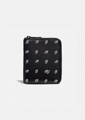 Coach small zip around wallet with dot diamond print