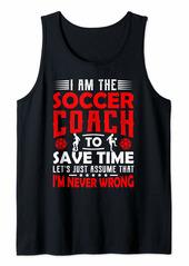 Soccer Coach Gifts Men Women Coaching Motivation Teacher Tank Top