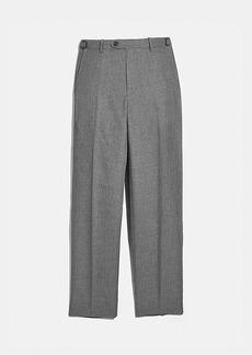 Coach solid flat front pants