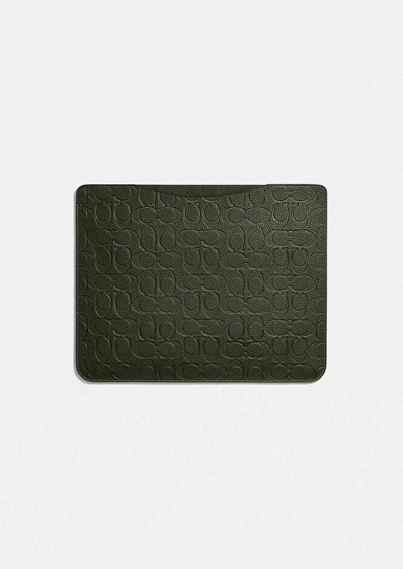 Coach tablet sleeve in signature leather