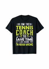 Tennis Coach Gifts Men Women Coaching Motivation Teacher T-Shirt