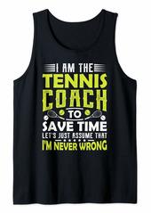 Tennis Coach Gifts Men Women Coaching Motivation Teacher Tank Top