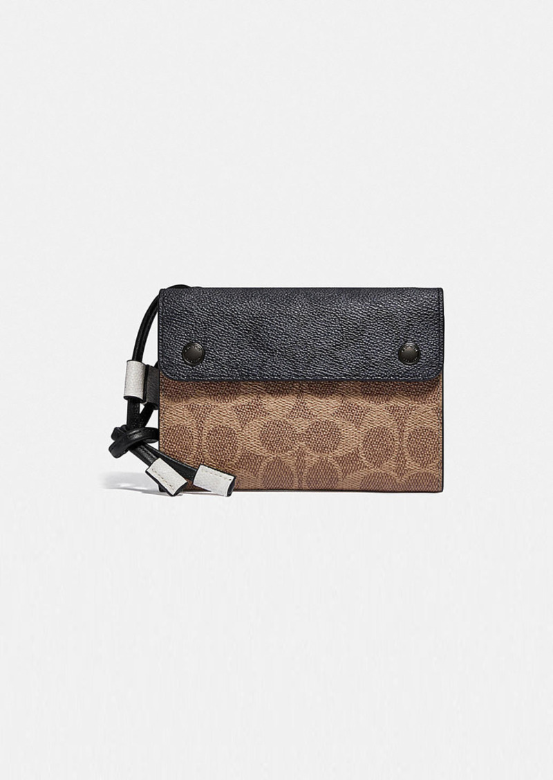 Coach travel wallet crossbody in colorblock signature...