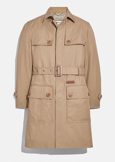 Coach trench in organic cotton and recycled polyester