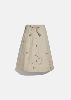 Coach trench panel skirt