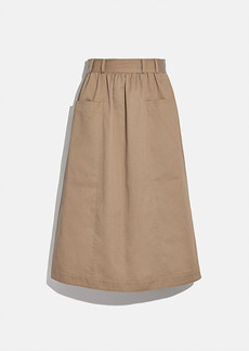 Coach trench skirt