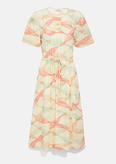 Coach trompe l'oeil short sleeve dress