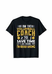 Volleyball Coach Gifts Men Women Coaching Motivation Teacher T-Shirt