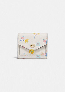 Coach wyn small wallet with watercolor floral print