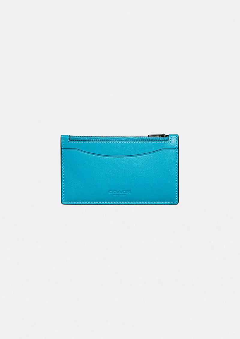 Coach zip card case