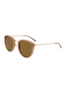 Cole Haan 52mm Thin Retro Round Sunglasses