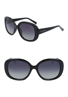 Cole Haan 54mm Classic Oval Sunglasses