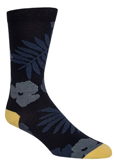 Cole Haan Palm Floral Crew Socks