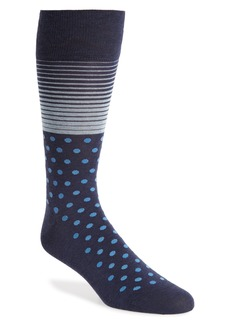 Cole Haan Stripe & Dot Socks
