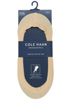 Cole Haan Women's Laser-Cut Memory Foam No-Show Liner Socks