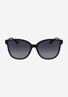 Cole Haan Flat Lens Oversized Cateye Sunglasses