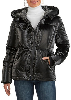 Cole Haan Glazed Down Puffer Hooded Jacket