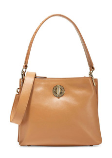 Cole Haan Small Turnlock Leather Bucket Bag