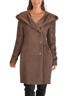 Women's Cole Haan Wool Blend Hooded Coat