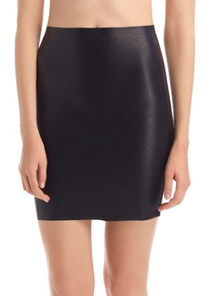 Commando Faux Leather Miniskirt